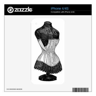 corset iPhone 4S decals