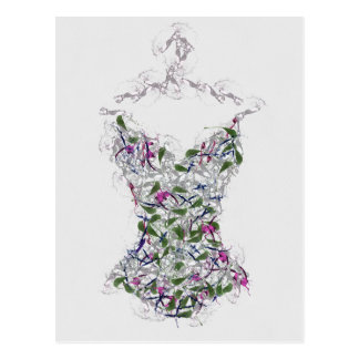 Corset On A Hanger Post Cards