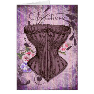 Corsetiere I Corset illustration greeting card