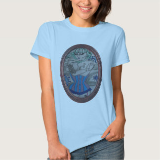 corsets and tattoos in winter snow tee shirt