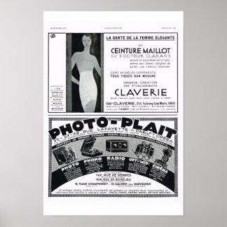 Corsets, photo-plait print