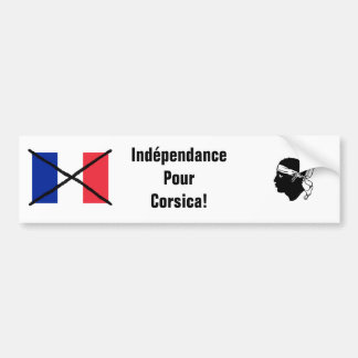 Corsica Independence bumper sticker