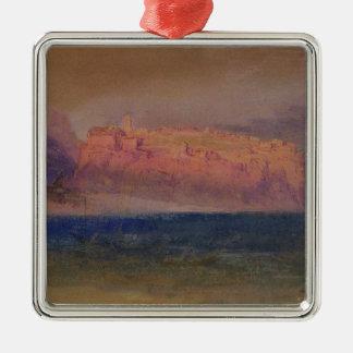 Corsica, (Monaco?) c.1830-35 (w/c on brown paper) Metal Ornament