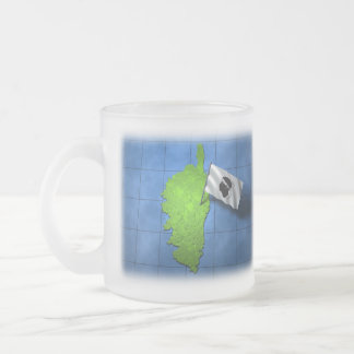 Corsica with its own flag frosted glass coffee mug