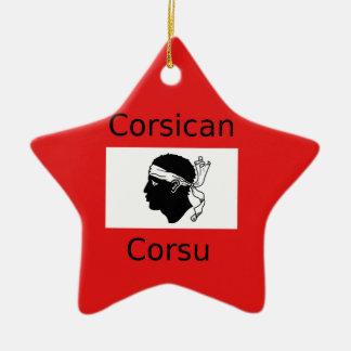 Corsican Flag And Language Design Ceramic Ornament