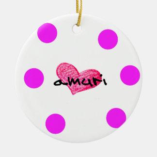 Corsican Language of Love Design Ceramic Ornament