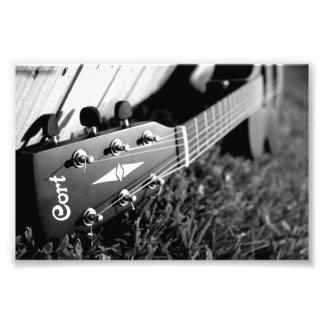Cort Guitar Black and White Art Photo