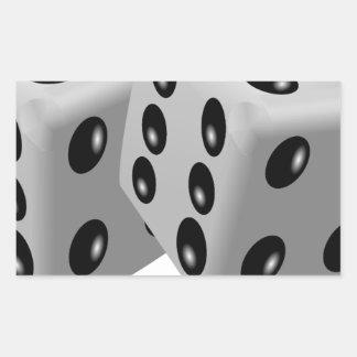 Corta la suerte de juego de los números en rectangular pegatina