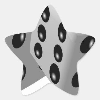 Corta la suerte de juego de los números en calcomania forma de estrella