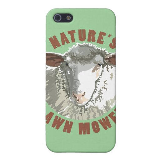 Cortacésped de las ovejas iPhone 5 fundas