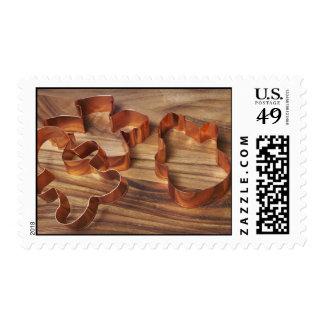 Cortador de la galleta del navidad timbres postales