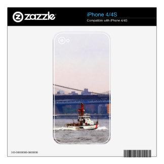 Cortador del guardacostas cerca del puente de Broo Skins Para eliPhone 4S