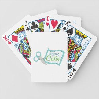 Cortador del recortes baraja cartas de poker