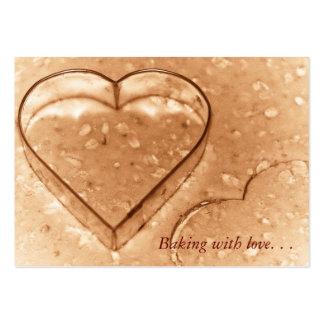 Cortador en forma de corazón de la galleta - tarje plantilla de tarjeta de visita