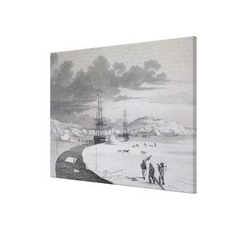 Cortando en la isla del invierno, octubre de 1821, lona estirada galerias