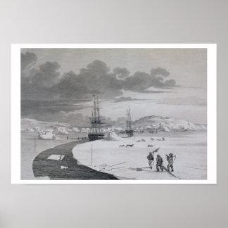 Cortando en la isla del invierno, octubre de 1821, posters