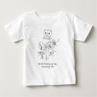 Cortándolos camisetas playera para bebé