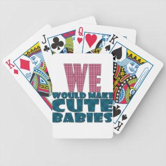 corte a los bebés cartas de juego