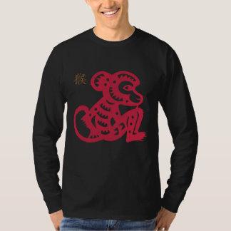 Corte chino del papel del mono del zodiaco camisas