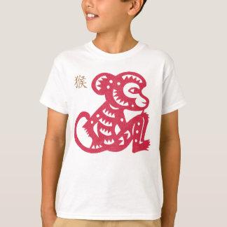 Corte chino del papel del mono del zodiaco remera