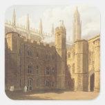 Corte de College de rey, Cambridge, 'del Hist Pegatina Cuadrada