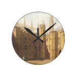 Corte de College de rey, Cambridge, 'del Hist Reloj Redondo Mediano
