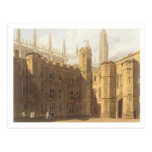 Corte de College de rey, Cambridge, 'del Hist Tarjeta Postal