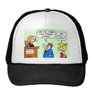 corte de divorcio que liga la cena libre gorras de camionero