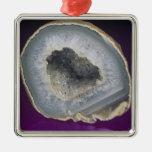 Corte de Geode del cuarzo abierto Ornamentos Para Reyes Magos
