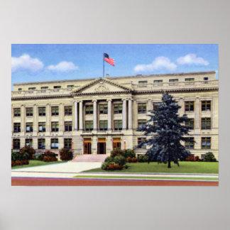 Corte de Greensboro Carolina del Norte el condado  Posters