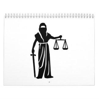 Corte de Justitia Calendario De Pared
