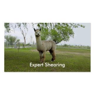 Corte de la alpaca tarjetas de visita