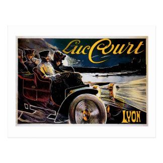 Corte de Lucas - anuncio del automóvil del vintage Tarjetas Postales