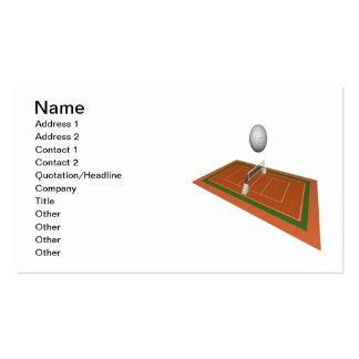 Corte de voleibol tarjetas de visita