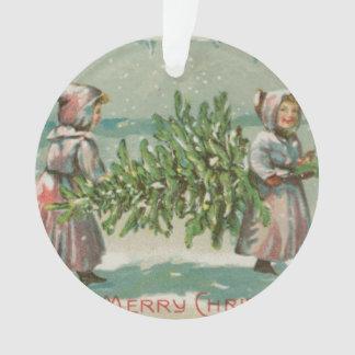 Corte del árbol de navidad del vintage