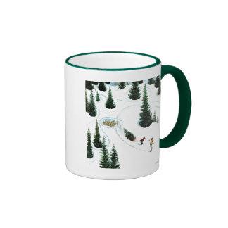 Corte del árbol tazas de café