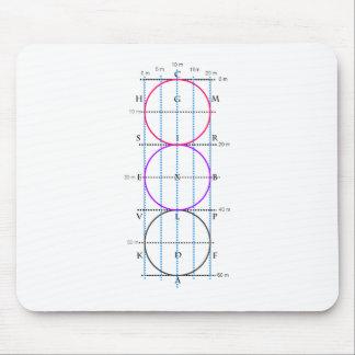 corte del Dressage de los 20x60m ** círculos ** Mouse Pad