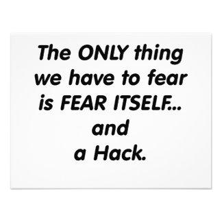 corte del miedo invitación personalizada