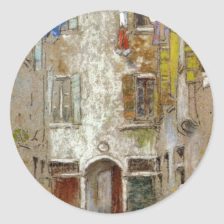 Corte del Paradiso by James McNeill Whistler Classic Round Sticker