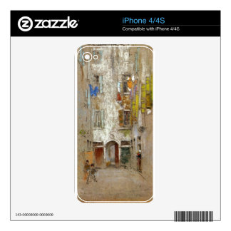 Corte del Paradiso by James McNeill Whistler iPhone 4S Decals