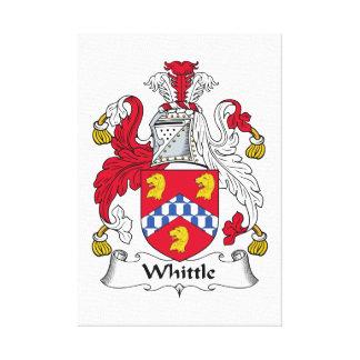 Corte el escudo de la familia impresión en lienzo estirada