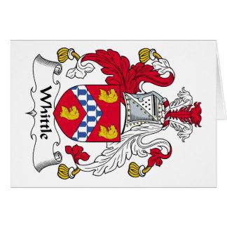 Corte el escudo de la familia tarjeton