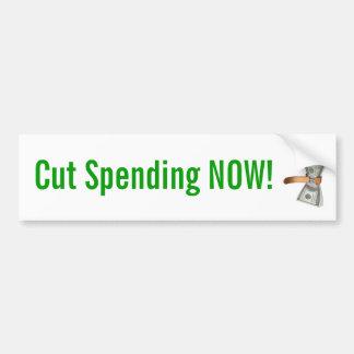 ¡Corte el gasto ahora! Pegatina Para Auto