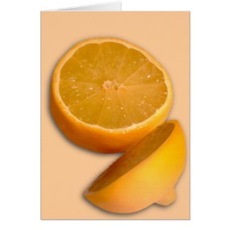 Corte el limón tarjeta de felicitación