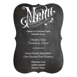 """Corte el menú rústico del boda con tintas de la invitación 5"""" x 7"""""""