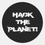 Corte el pegatina del planeta