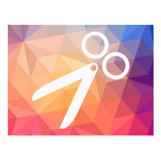 Corte el pictograma de las peluquerías tarjetas postales