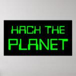 corte el planeta póster