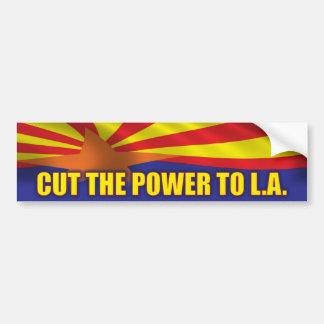 Corte el poder a L.A. - ayuda SB1070 Pegatina Para Auto