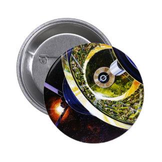 Corte futurista de la estación espacial pin